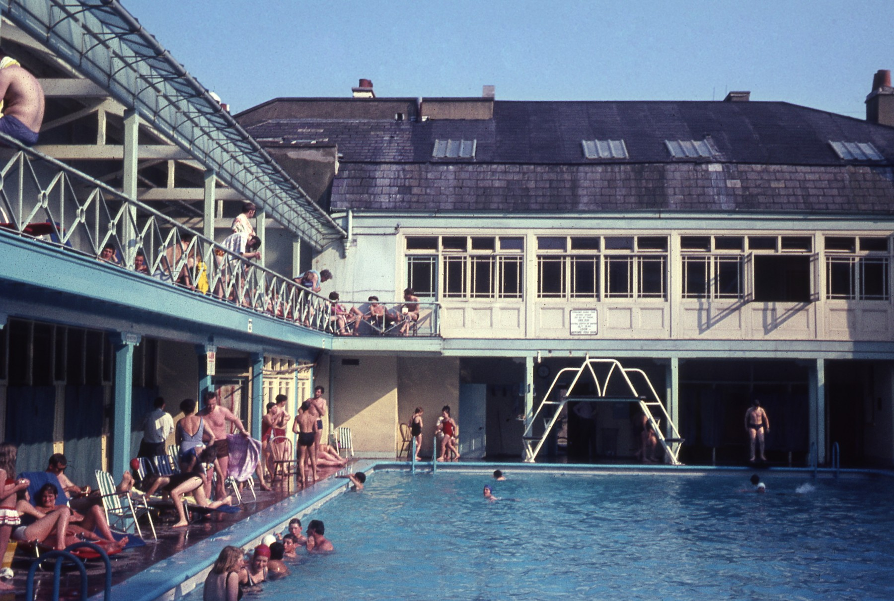 Bristol Lido opened in Clifton in 1849